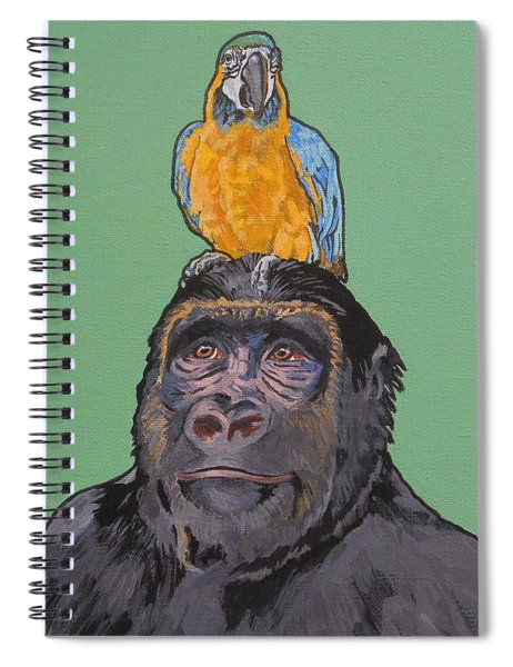 Gregory The Gorilla Spiral Notebook