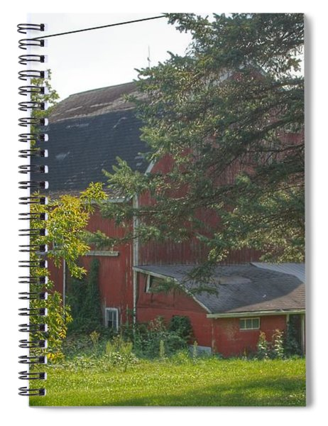 0015 - Grey Road Red I Spiral Notebook