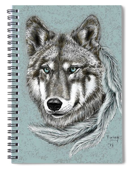 Grey Wolf Spiral Notebook