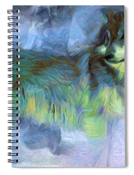 Grey Wolves In Snow Spiral Notebook