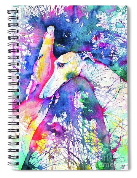 Greyhound Trance Spiral Notebook