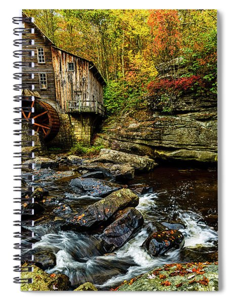 Grist Mill Fall Color Spiral Notebook