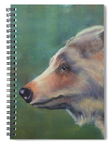 Grizzly Bear Portrait Spiral Notebook