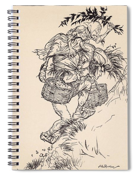Groaning Continually, He Climbed The Spiral Notebook