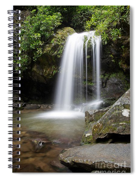 Grotto Falls Vertical Spiral Notebook