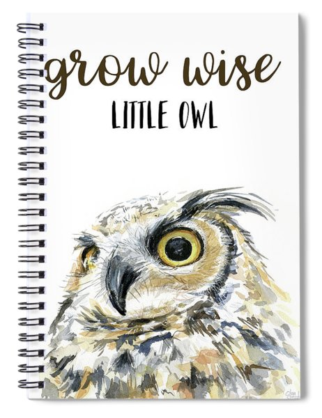 Grow Wise Little Owl Spiral Notebook