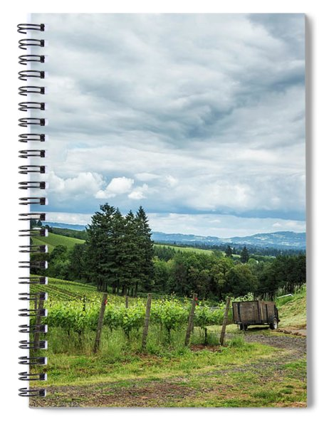 Growing Grapes Spiral Notebook