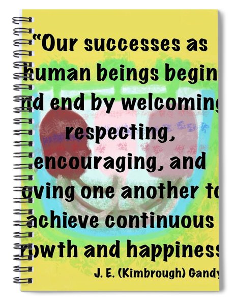 Growth With Humanity Spiral Notebook
