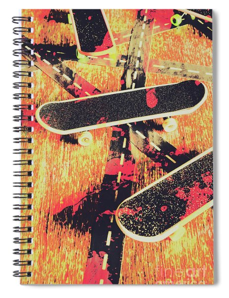 Grunge Skate Art Spiral Notebook