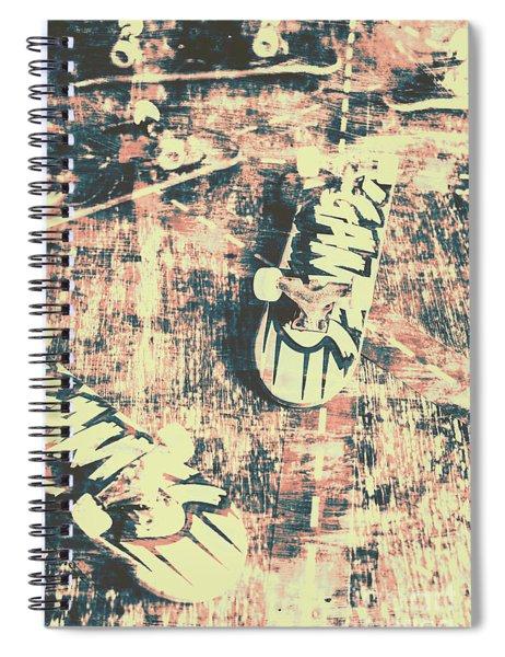 Grunge Skateboard Poster Art Spiral Notebook