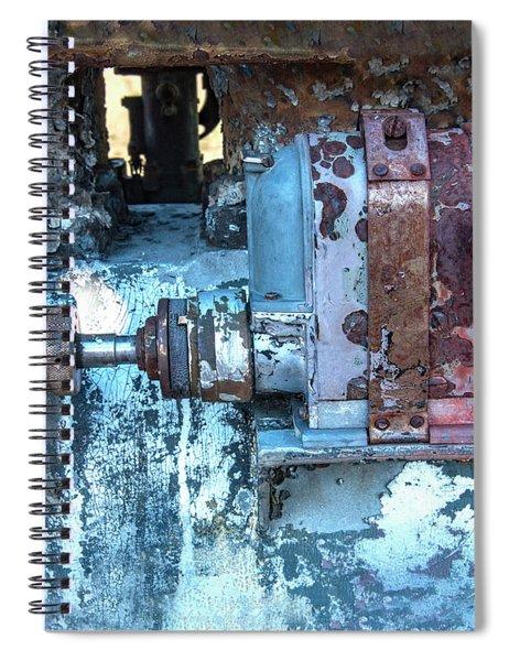 Grungy Engine Spiral Notebook