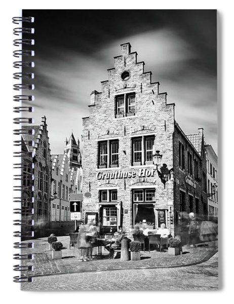 Spiral Notebook featuring the photograph Gruuthuse Hof In Bruges by Barry O Carroll