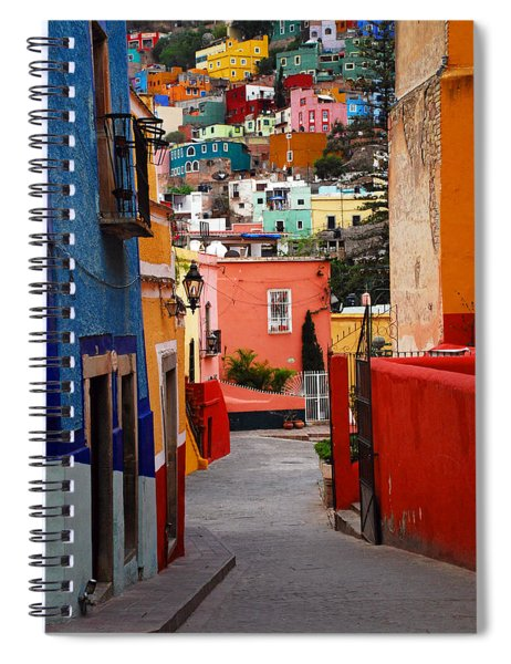 Spiral Notebook featuring the photograph Guanajuato Lane by Skip Hunt