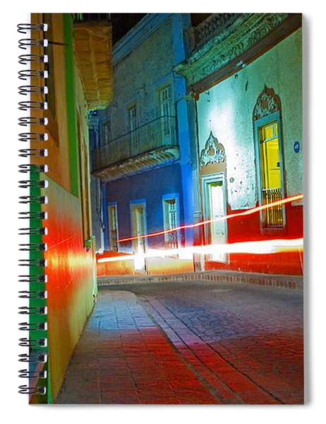Spiral Notebook featuring the photograph Guanajuato Night by Skip Hunt