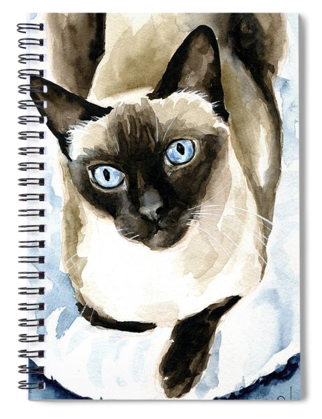 Guardian Angel - Siamese Cat Portrait Spiral Notebook