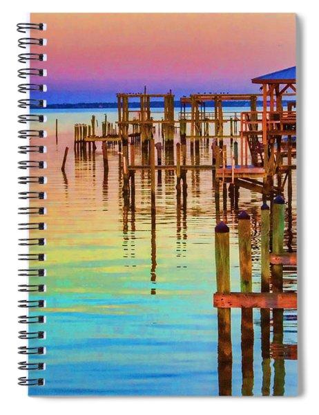 Guarding The Dock Spiral Notebook