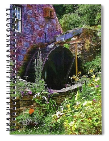 Guernsey Moulin Or Waterwheel Spiral Notebook
