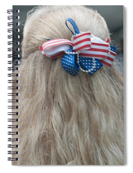 Red, White And Bow Spiral Notebook