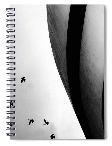 Guggenheim Museum With Pigeons Spiral Notebook
