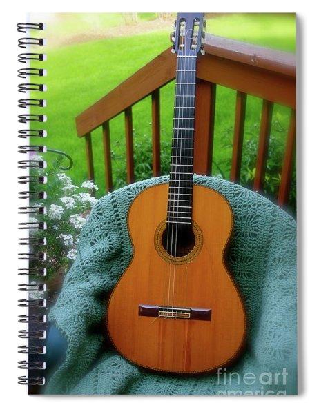 Guitar Awaiting Spiral Notebook