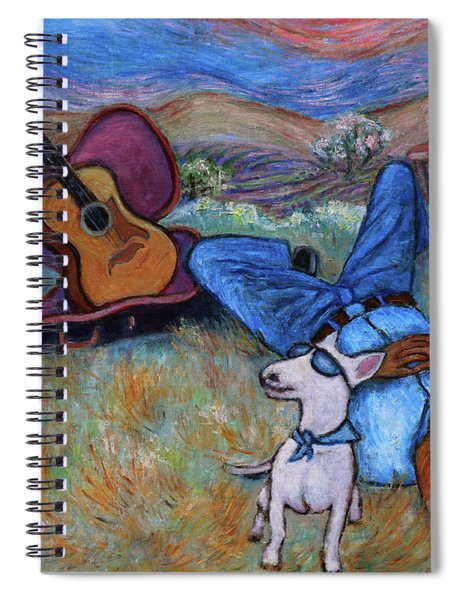 Guitar Doggy And Me In Wine Country Spiral Notebook
