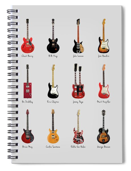 Guitar Icons No1 Spiral Notebook