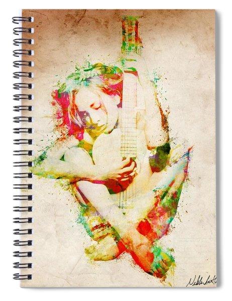 Guitar Lovers Embrace Spiral Notebook
