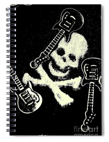 Guitars Of Black Metal Spiral Notebook