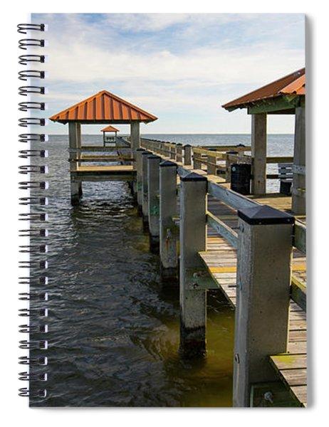 Gulf Coast Pier Spiral Notebook