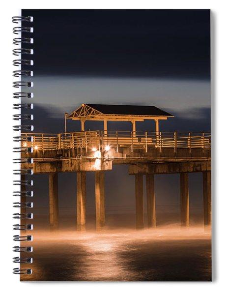 Gulf Shore State Park Pier Blue Hour  Spiral Notebook