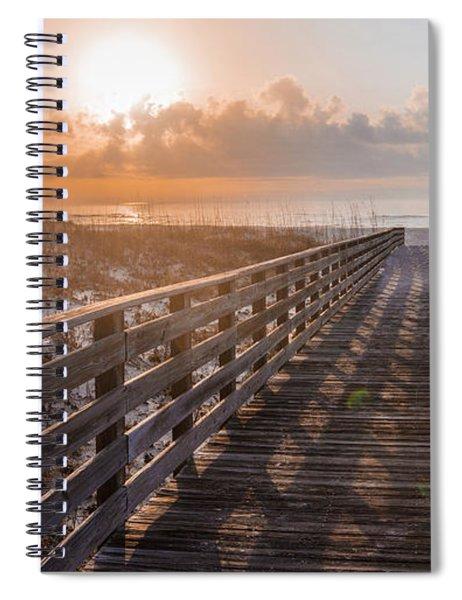 Gulf Shore Sunrise And Boardwalk Spiral Notebook