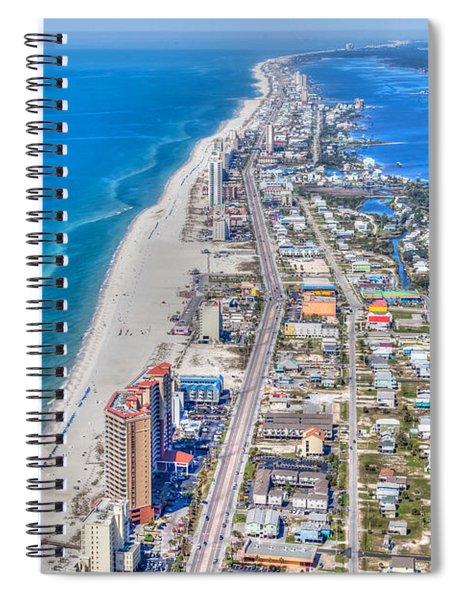 Gulf Shores Beach Looking W Spiral Notebook