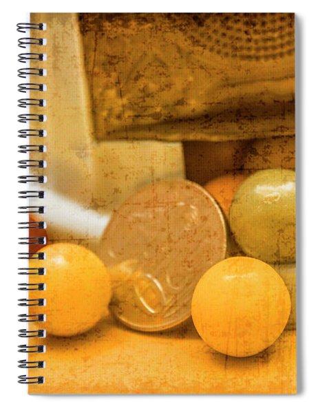 Gumballs Dispenser Antiques Spiral Notebook