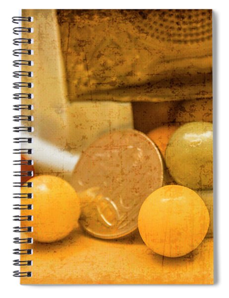 Gumballs Dispenser Antiques Spiral Notebook