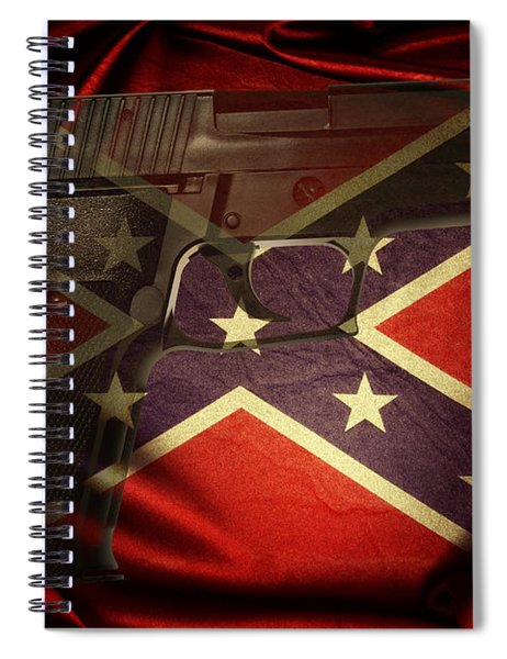 Gun And Confederate Flag Spiral Notebook