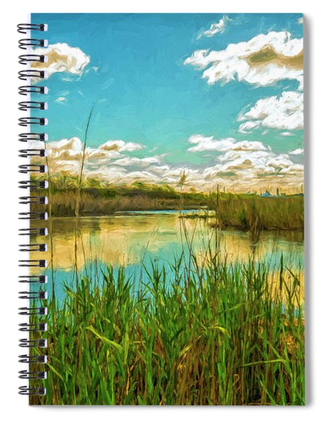 Gunnel Oval By Paint Spiral Notebook
