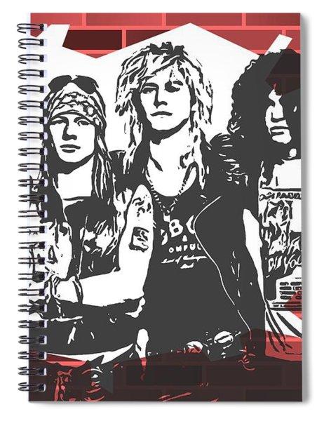 Guns N Roses Graffiti Tribute Spiral Notebook