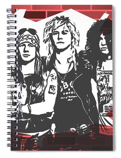 Guns N Roses Graffiti Tribute Spiral Notebook