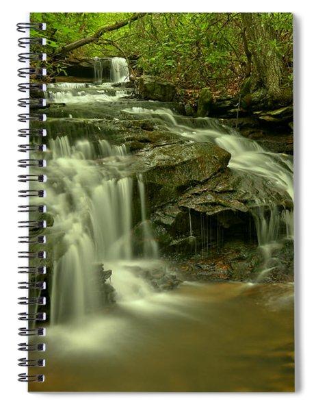 Gushing At Cave Falls Spiral Notebook