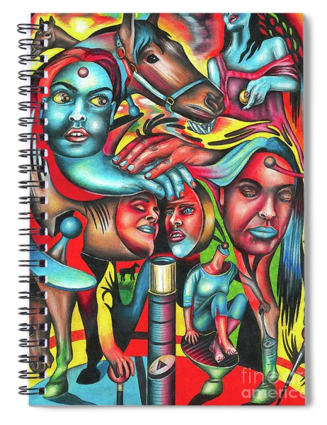 Gyrating Vigor Of Carnal Sustenance Spiral Notebook