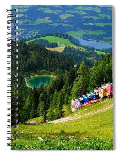 Hahnenkamm - Kitzbuehel Spiral Notebook