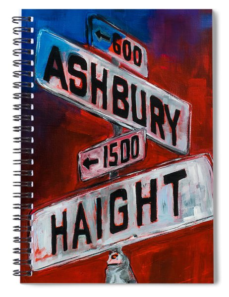 Haight And Ashbury Spiral Notebook