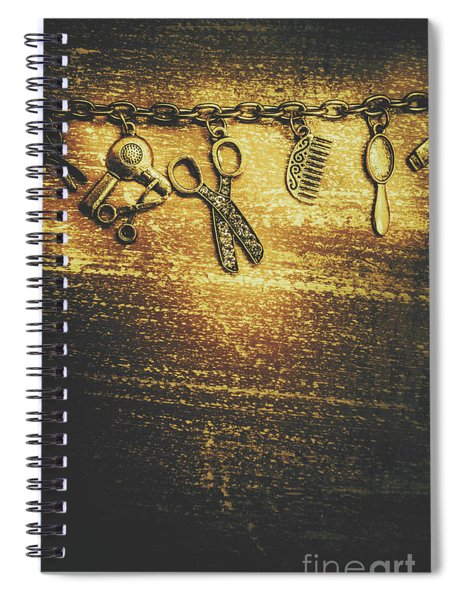 Hairdressing Beauty Salon Background Spiral Notebook