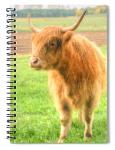 Spiral Notebook featuring the photograph Hairy Coos by Garvin Hunter