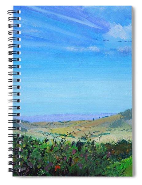 Haldon Hills Sea View Spiral Notebook