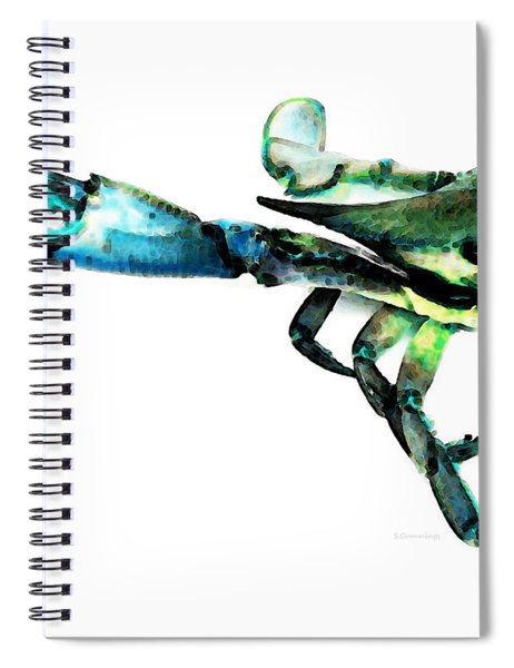 Half Crab - The Left Side Spiral Notebook