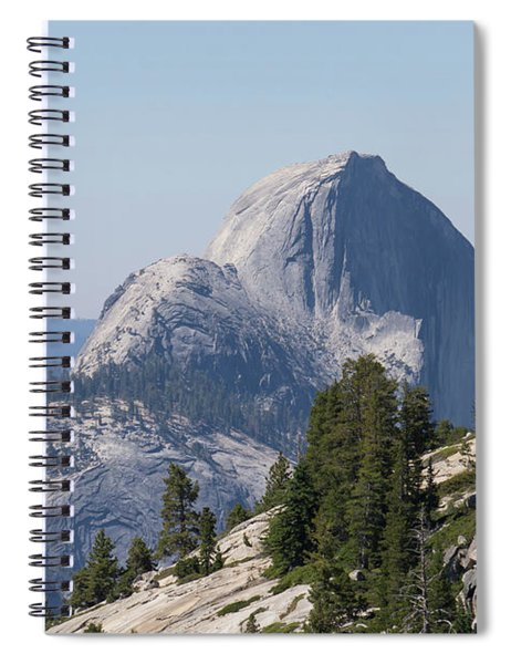 Half Dome And Yosemite Valley From Olmsted Point Tioga Pass Yosemite California Dsc04221 Spiral Notebook
