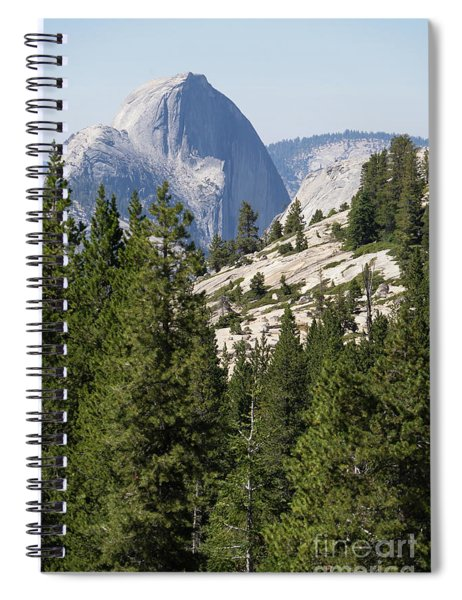 Half Dome And Yosemite Valley From Olmsted Point Tioga Pass Yosemite California Dsc04236 Spiral Notebook