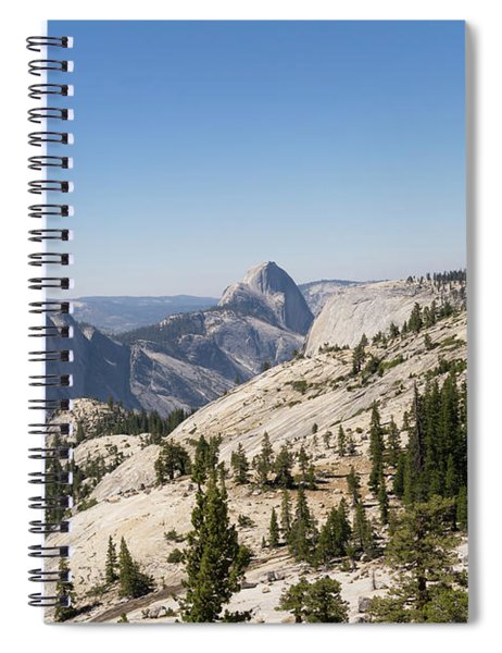 Half Dome And Yosemite Valley From Olmsted Point Tioga Pass Yosemite California Dsc04252 Spiral Notebook
