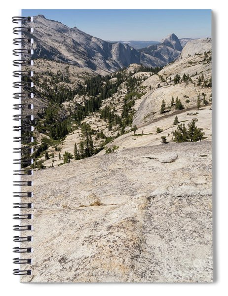 Half Dome And Yosemite Valley From Olmsted Point Tioga Pass Yosemite California Dsc04265 Spiral Notebook